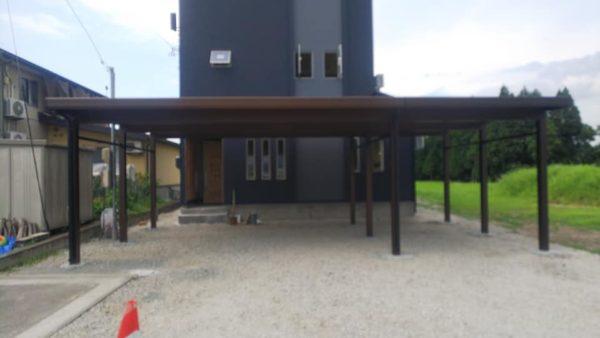 2021年8月F様邸 カーポート(3台分)設置